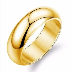 Other - 18k Gold Stainless Steel Never Fade Smooth Band